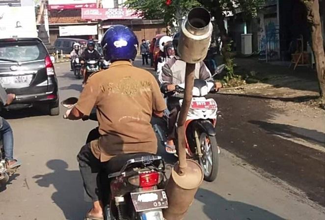 kumpulan gambar knalpot anti mainstream di Indonesia