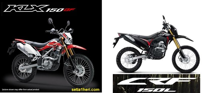 Kelebihan dan kekurangan Kawasaki KLX 150 dan Honda CRF150L