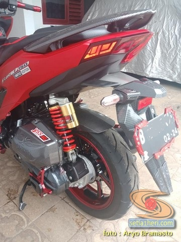 Modifikasi All New Honda Vario 150 merah merona ala sultan brosis (13)