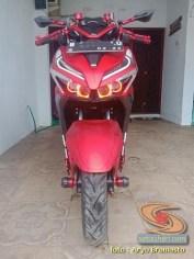 Modifikasi All New Honda Vario 150 merah merona ala sultan brosis (5)