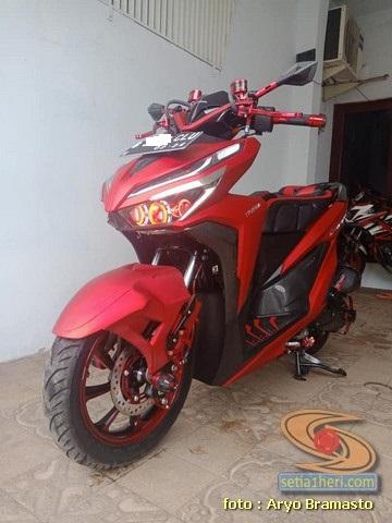 Modifikasi Motor Vario 125 Warna Merah Blog Motor Keren