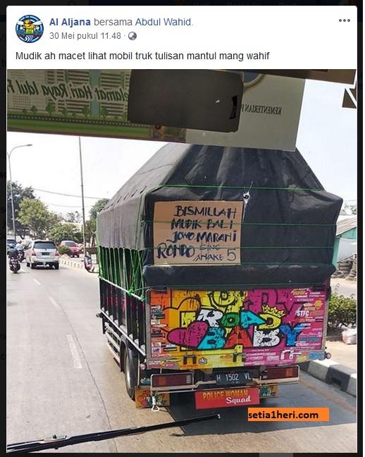 Kata-kata mudik lucu di truk