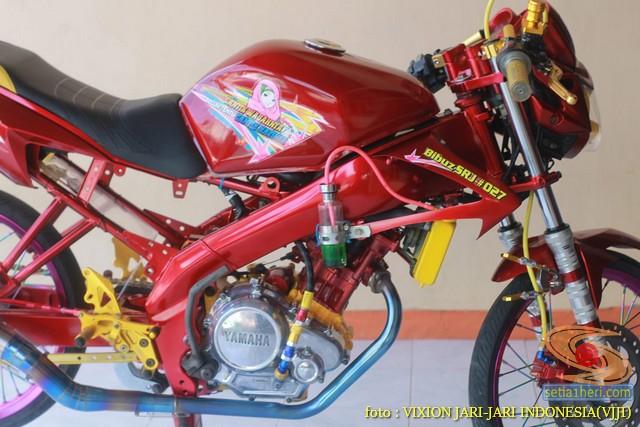 Kumpulan gambar Modifikasi tabung reservoir coolant pada sepeda motor pakai botol parfum gans.. (21)