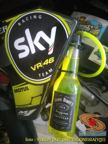 Kumpulan gambar Modifikasi tabung reservoir coolant pada sepeda motor pakai botol parfum gans.. (25)