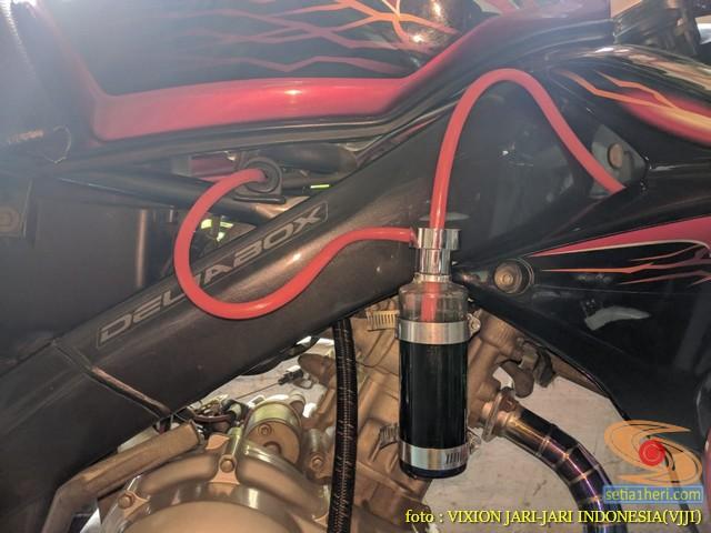 Kumpulan gambar Modifikasi tabung reservoir coolant pada sepeda motor pakai botol parfum gans.. (28)