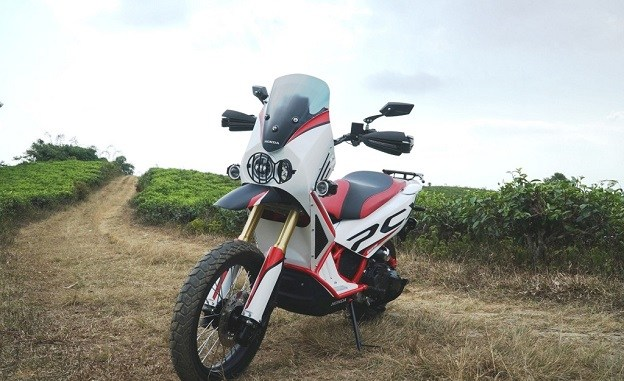 modifikasi honda pcx jadi motor adventure