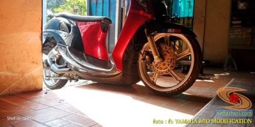 Kumpulan Gambar Modifikasi Yamaha Mio Ceper alias penyapu jalan gans.. (9)