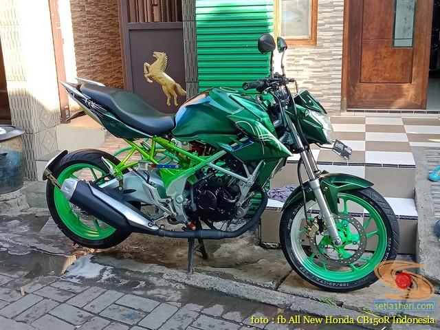 Foto-foto modifikasi velg repaint pada Honda CB150R Streetfire tahun 2019