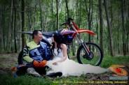 Kumpulan foto romantisme anak motor trail maupun prewedding biker