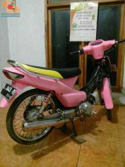 Modifikasi supra x 125 warna pink merah