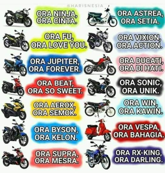 stiker biker ora - ora di motor
