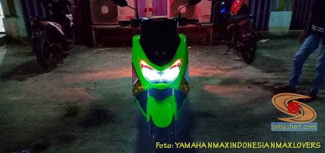 Modifikasi Yamaha NMAX warna hijau brosis