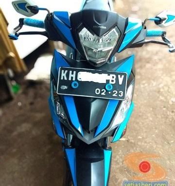 Modifikasi simple cutting stiker pada Honda Supra GTR 150