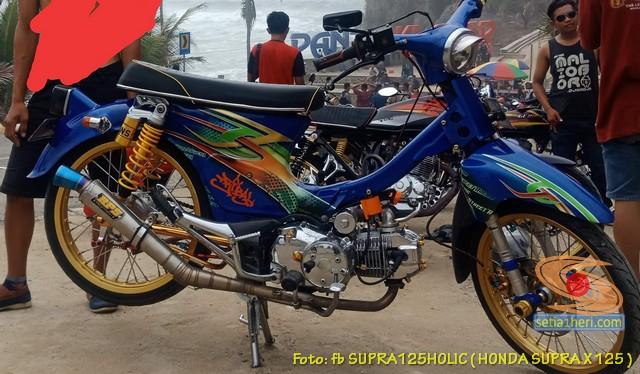 Modifikasi Kawin silang Honda Supra dan Honda C70 (2)