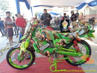Ragam modifikasi dan paint brush Yamaha RX King, monggo diintips brosis