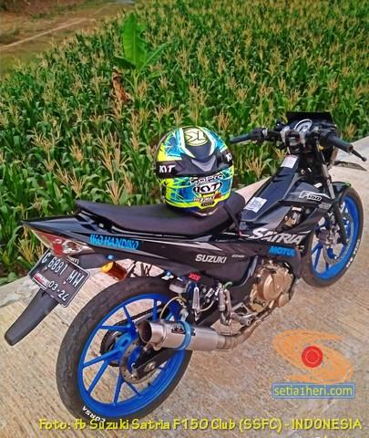 Suzuki Satria Fu ganti stang punya RZR dan punya Yamaha Byson (1)
