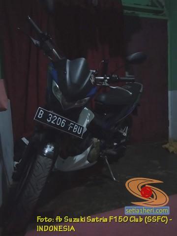 Suzuki Satria Fu ganti stang punya RZR dan punya Yamaha Byson (2)