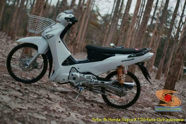 Modifikasi Honda Supra X 125 pakai keranjang di depan brosis (4)