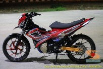 Modifikasi Suzuki Satria Fu warna merah brosis (11)