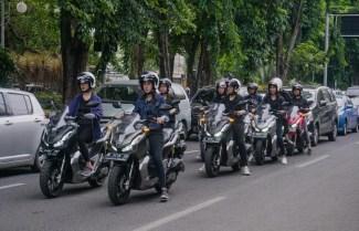 lady biker Honda ADV150 city rolling keliling Kota Surabaya tahun 2019 (8)