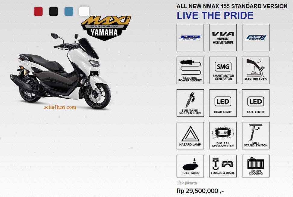 All New Yamaha N max Spesifikasi Terlengkap dan Harga Terbaru 2020