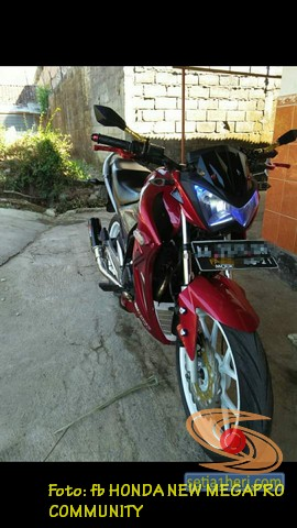 Modifikasi Honda New Megapro pakai headlamp Ninja Z250