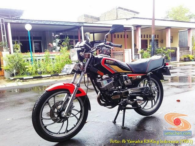 Modifikasi velg palang atau bintang pada Yamaha RX King (1)