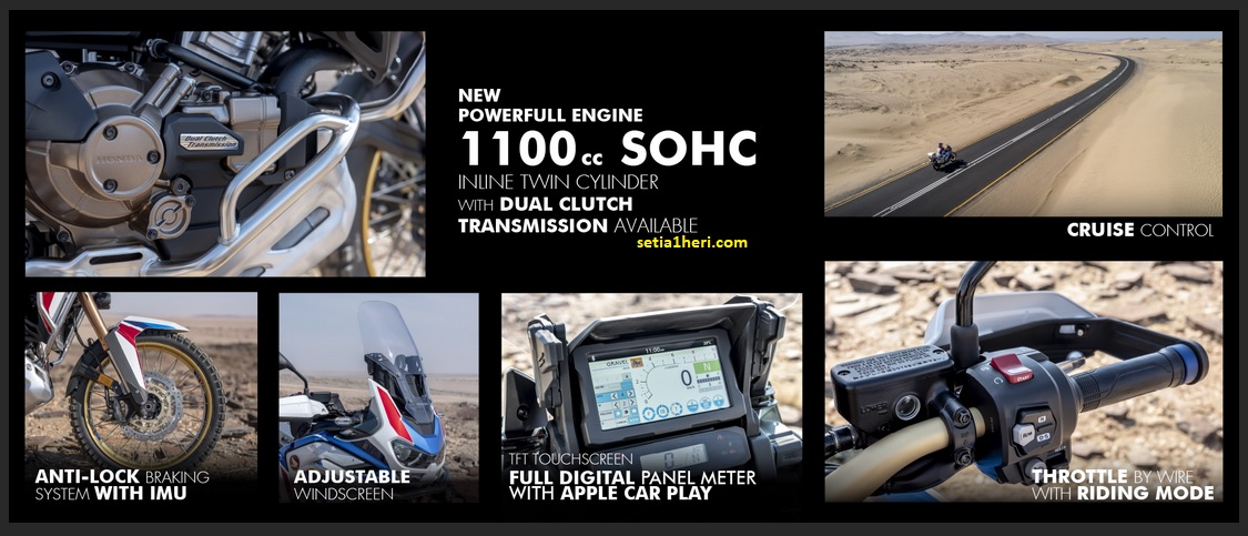 Fitur baru Honda CRF1100L Africa Twin Adventure Sports tahun 2020