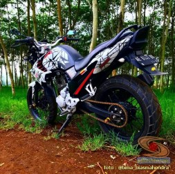 Modifikasi evolusi Yamaha Scorpio tahun 2012 asal Kota Madiun (10)