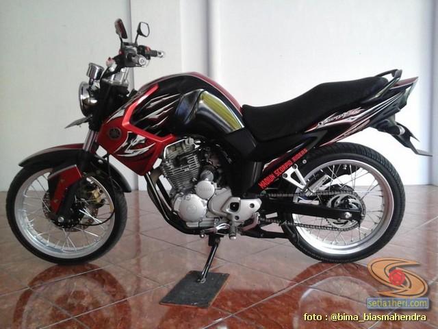 Modifikasi evolusi Yamaha Scorpio tahun 2012 punya bro Bima Biasmahendra (2)
