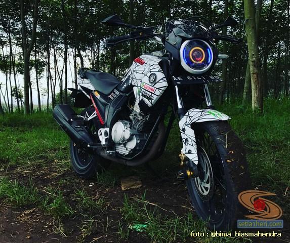 Modifikasi evolusi Yamaha Scorpio tahun 2012 asal Kota Madiun (9)
