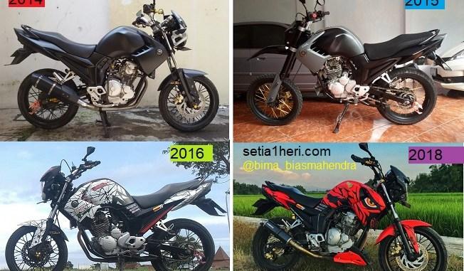 Modifikasi evolusi Yamaha Scorpio tahun 2012, tiap tahun ganti tema modifikasi gans....hehehe