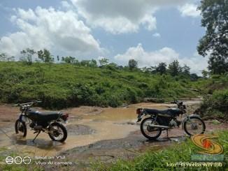 Foto- Foto modifikasi motor Honda Win jadi motor trail