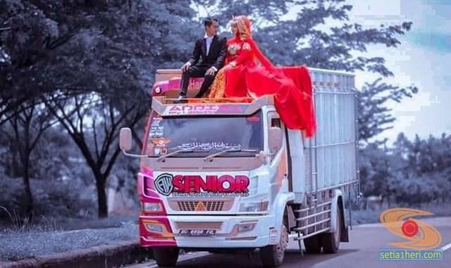 Foto-foto prewedding truk mania gans. (3)
