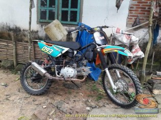 Kumpulan modifikasi trail odong-odong basis mesin Honda Supra X 125 brosis