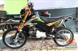 Kumpulan modifikasi trail odong-odong basis mesin Honda Supra X 125 brosis (8)