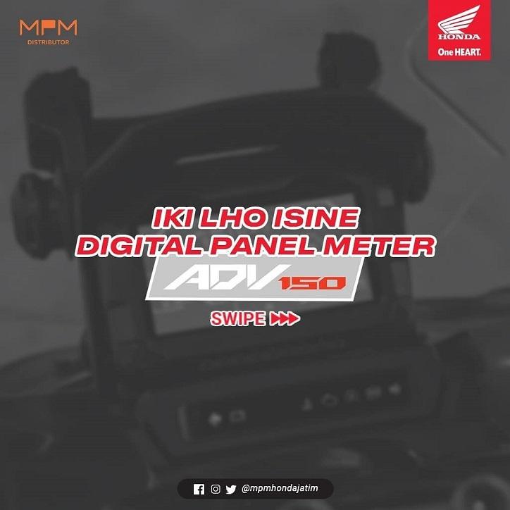 Mengenal bagian panelmeter digital Honda ADV 150 brosis