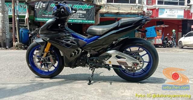 Modifikasi Yamaha MX King 150 spek hedon alias limbah moge punya sultan (1)