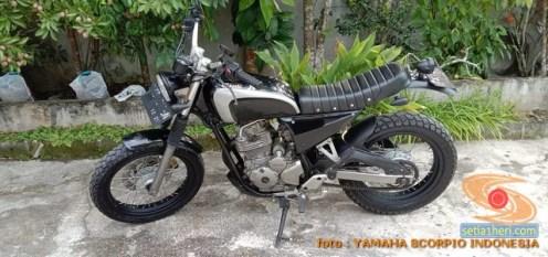 Kumpulan gambar modifikasi Yamaha Scorpio menjadi scrambler atau japstyle (1)