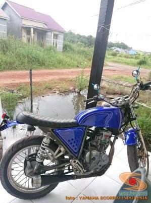 Kumpulan gambar modifikasi Yamaha Scorpio menjadi scrambler atau japstyle (3)