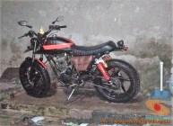 Kumpulan gambar modifikasi Yamaha Scorpio menjadi scrambler atau japstyle (8)
