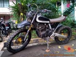 Kumpulan modifikasi Yamaha Scorpio menjadi scrambler atau japstyle (4)