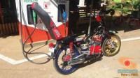 Modifikasi Yamaha RX King berubah jadi motor bebek retro klasik atau swap engine (10)