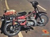 Modifikasi Yamaha RX King berubah jadi motor bebek retro klasik atau swap engine (19)