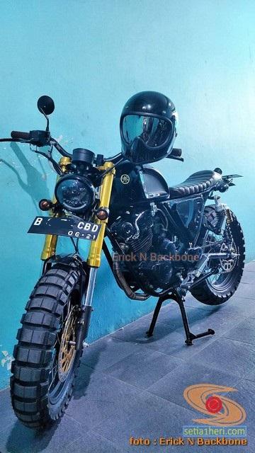 Modifikasi Yamaha Scorpio versi Scrambler asal Jakarta (5)