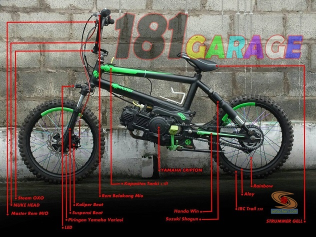 modifikasi bmx moto asal Malang