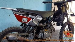 Modifikasi trail GTX bebek basis mesin Yamaha Vega tahun 2020 (25)