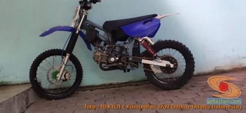 Modifikasi trail GTX bebek basis mesin Yamaha Vega tahun 2020 (3)