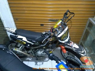 Modifikasi trail GTX bebek basis mesin Yamaha Vega tahun 2020 (30)