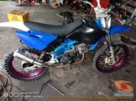 Modifikasi trail GTX bebek basis mesin Yamaha Vega tahun 2020 (31)